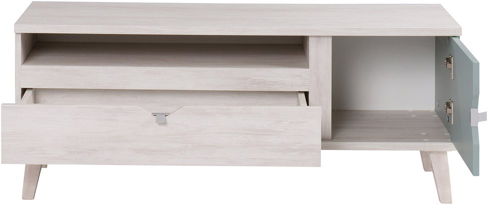 29fd662e4 tv stolík MALMO, dub biely/modrá - dub biely a modrá ERA Nábytok