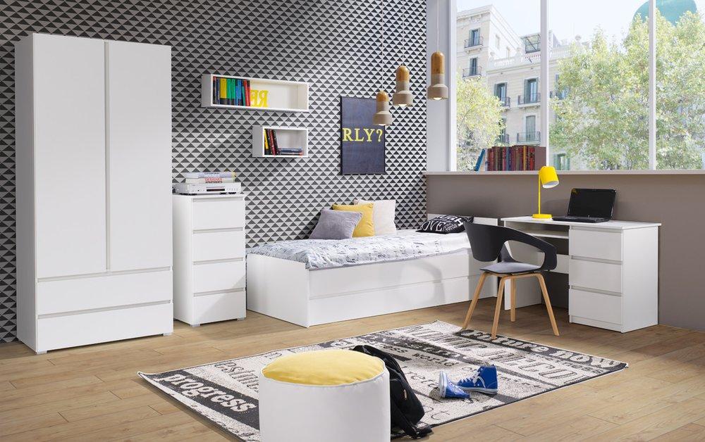 d5e42b71ab457 študentská izba CRYSTAL 1, biela - ERA Nábytok